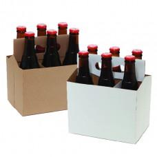 Картонный бокс на 6 бутылки объем 0,3 литра