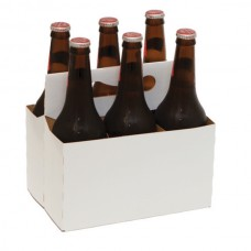Картонный бокс на 6 бутылки объем 0,5 литра