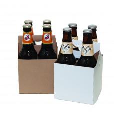 Картонный бокс на 4 бутылки объем 0,3 литра