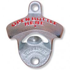 Настенная металлическая открывалка для бутылок