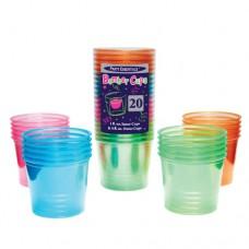 Неоновые мягкие пластиковые стаканы